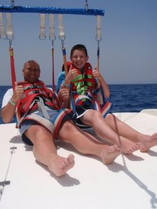 Parasailing at Figtree Bay